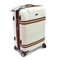 Велика валіза з полікарбонату на 4 колесах Airtex Deimos 100 л біла, фото 1