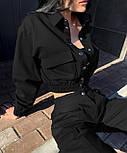 Стильний костюм двійка жіночий прогулянковий з джинса, фото 2