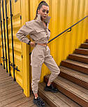 Стильний костюм двійка жіночий прогулянковий з джинса, фото 5