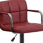 Барний стілець зі спинкою Bonro B-628-1 бордовий, фото 2