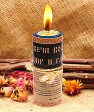 """Волшебная свеча """"Мир и Гармония"""" ручная работа"""