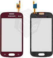 Touchscreen (сенсорный экран) для Samsung Galaxy Trend S7390, оригинал (красный)