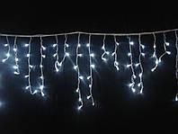 Уличная гирлянда Бахрома 120 LED 3м. на 50-70 см белая - праздничная
