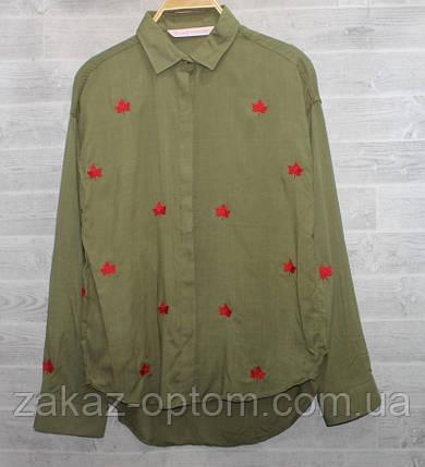Сорочка жіноча оптом (S-L) Туреччина котон - 67201, фото 2