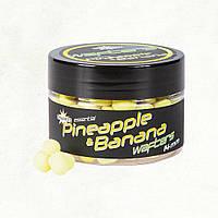 Насадка Dynamite Baits Fluro Wafter Pineapple & Banana (Ананас і Банан) 14мм