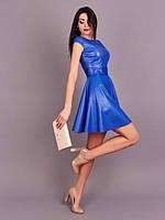 Модное платье из искусственной кожи