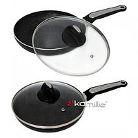 Сковорода индукционная 24 см (алюминий+мрамор) Kamille 4264MR