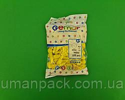 """Повітряні кульки пастель жовті 3"""" (8 см) латексні бомбочки 100 шт Gemar (1 пач.)"""