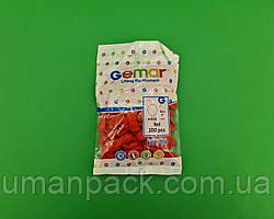 """Повітряні кульки пастель червоні 3"""" (8 см) латексні бомбочки 100 шт Gemar (1 пач.)"""