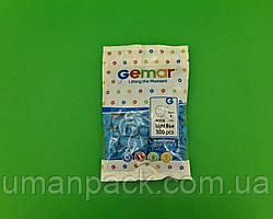 """Повітряні кульки пастель блакитні 3"""" (8 см) латексні бомбочки 100 шт Gemar (1 пач.)"""
