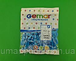 """Повітряні кульки пастель світло блакитний 5"""" (13 см) 100 шт Gemar (1 пач.)"""