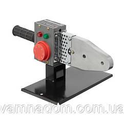 Паяльник для пластиковых труб, 850 Вт, 0-300°C, насадки 20, 25, 32, 40, 50, 63 мм, металлический кейс