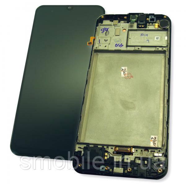 Samsung Дисплей Samsung M315F Galaxy M31 з сенсором і рамкою, чорний GH82-22405A (оригінал 100%)