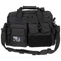 Тактична сумка MFH з накладними кишенями Німеччина колір чорний