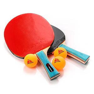 Набор для настольного тенниса Meteor Zephyr (original), набор для пинг-понга 2 ракетки, 3 мячика