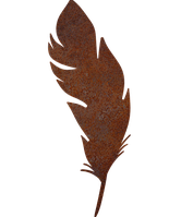 Надгробок з металу Пір'я 9