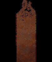 Надгробие из металла 50*103см*8мм. Мемориальная плита, памятник Музыка 01, фото 1