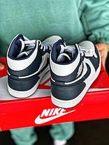 Баскетбольные кроссовки Air Jordan 1 Retro Mid Blue/White, фото 3