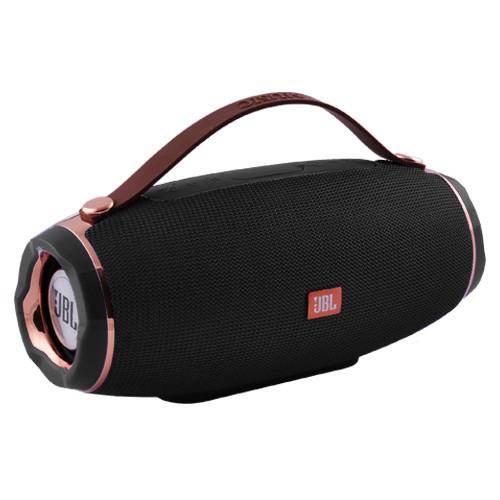 Портативна Бездротова Bluetooth Колонка Wireless Ak 202 Чорна З Різнокольоровою Підсвіткою