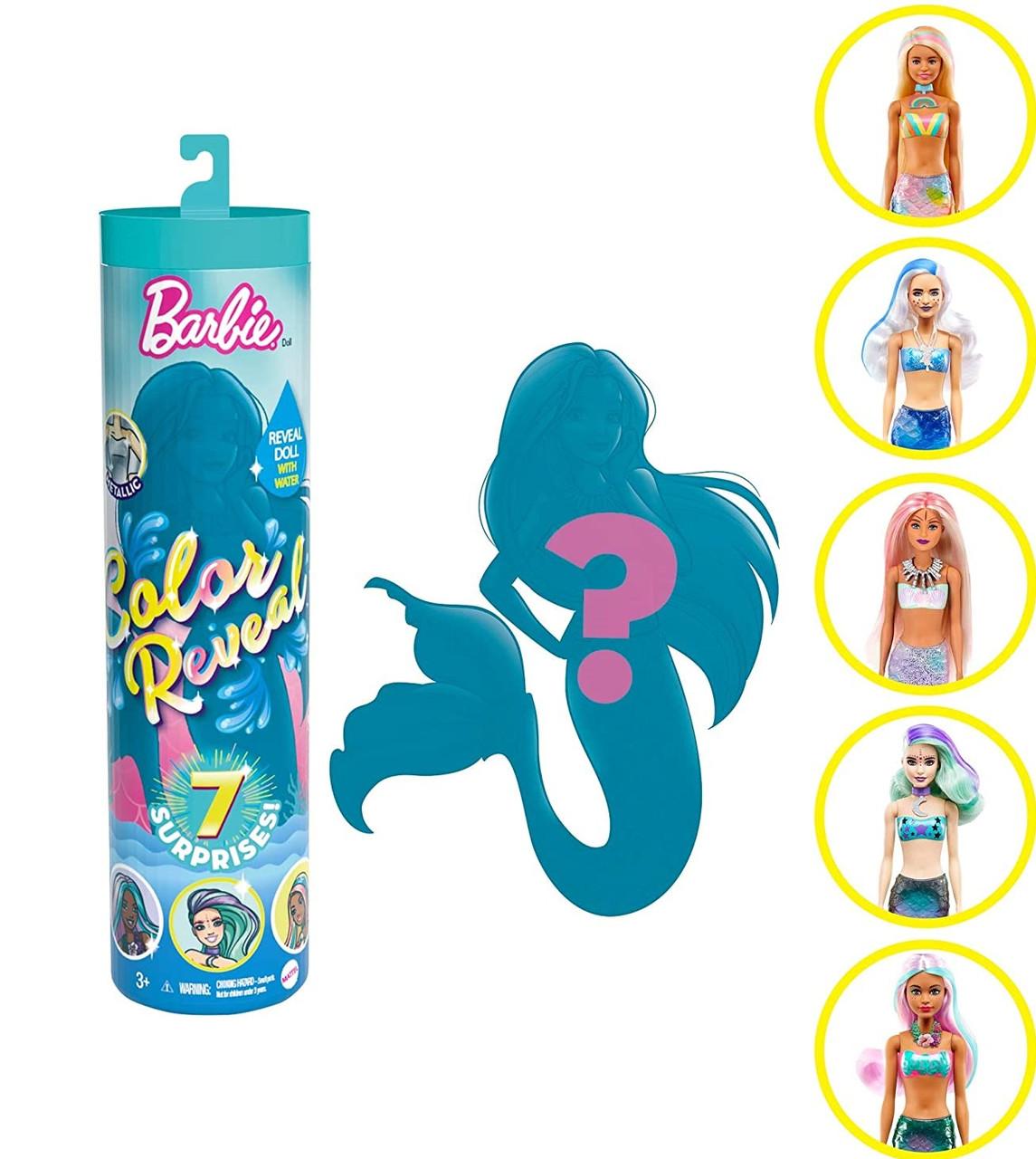 Лялька Барбі-сюрприз Русалка Кольорове перевтілення, Barbie Color Reveal Mermaid