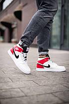 Баскетбольні кросівки Air Jordan 1 Retro Mid RedWhite, фото 2