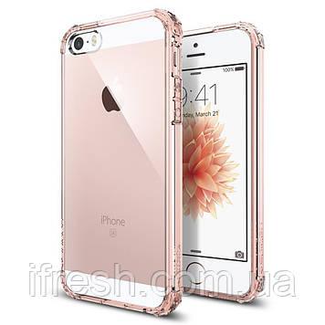 Чехол Spigen для iPhone SE/5S/5 Crystal Shell, Rose Crystal