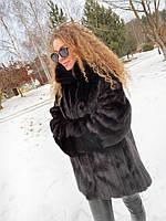 Женская норковая шуба размер 2XL натуральная норка