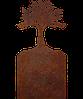 Надгробие из металла 50*103см*8мм. Мемориальная плита, памятник Люблю 01