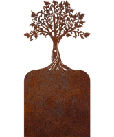 Надгробие из металла 50*103см*8мм. Мемориальная плита, памятник Люблю 01, фото 1