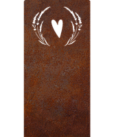 Надгробие из металла Люблю 3 Сталь Сorten 6 мм