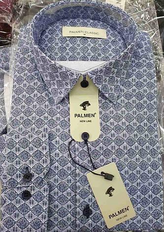 Чоловіча класична сорочка Palmen з принтом, фото 2