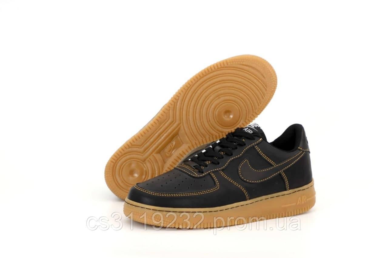 Мужские кроссовки Nike Air Force 1 Low black (черные)