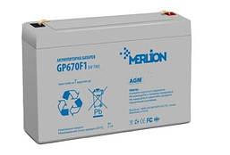 Аккумуляторная батарея MERLION AGM GP670F1 6 V 7Ah  ( 150 x 35 x 95 (100 ) )