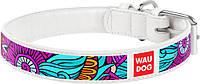 378215 Collar WauDog Design Лето кожаный ошейник белый, 38-49см/25мм