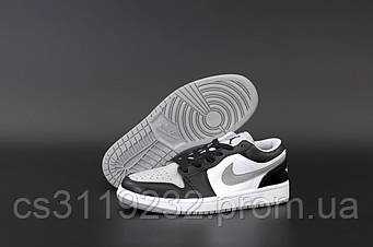 Женские кроссовки Nike Air Jordan 1 Low Grey White (серый) Найк Джорданы