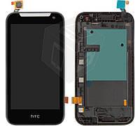 Дисплейный модуль (дисплей + сенсор) для HTC Desire 310 (128*63,5), с передней панелью, оригинал