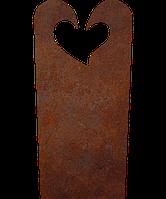 Надгробие из металла Люблю 8 Сталь Сorten 6 мм