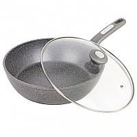 Сковорода глубокая индукционная (алюминий+гранит) 24 см  Kamille 4275GR