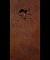 Надгробие из металла Люблю 13 Сталь Сorten 6 мм