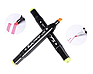 Набір двосторонніх маркерів Touch для малювання і скетчінга на спиртовій основі 60 штук TV-2103, фото 5