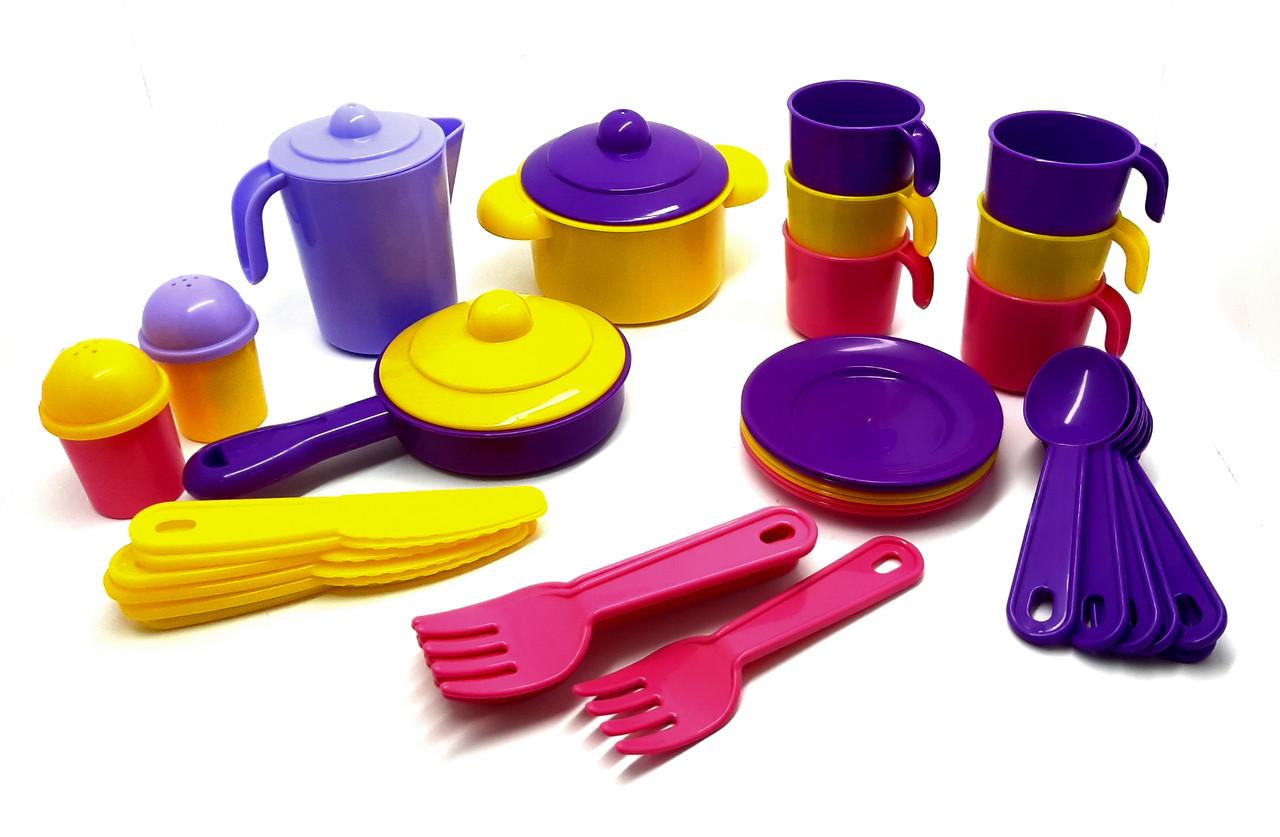 Набо ригрушечной детской посуды на 6 персон ТМ Полесье