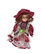 Кукла фарфоровая коллекционная Кристина высота 20 см в подарочной коробке