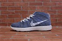 Мужские кроссовки Nike Lunar Flyknit Chukka blue