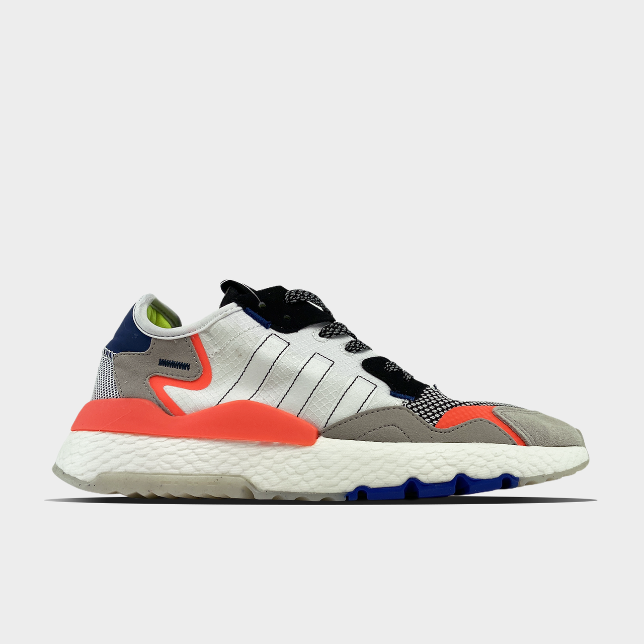 Ad!id@s, крос, обувь, взуття, sneakers, шузы, Nite Jogger Grey Orange (Белый)