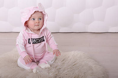 Детский костюмчик  для новорожденного Кисуля
