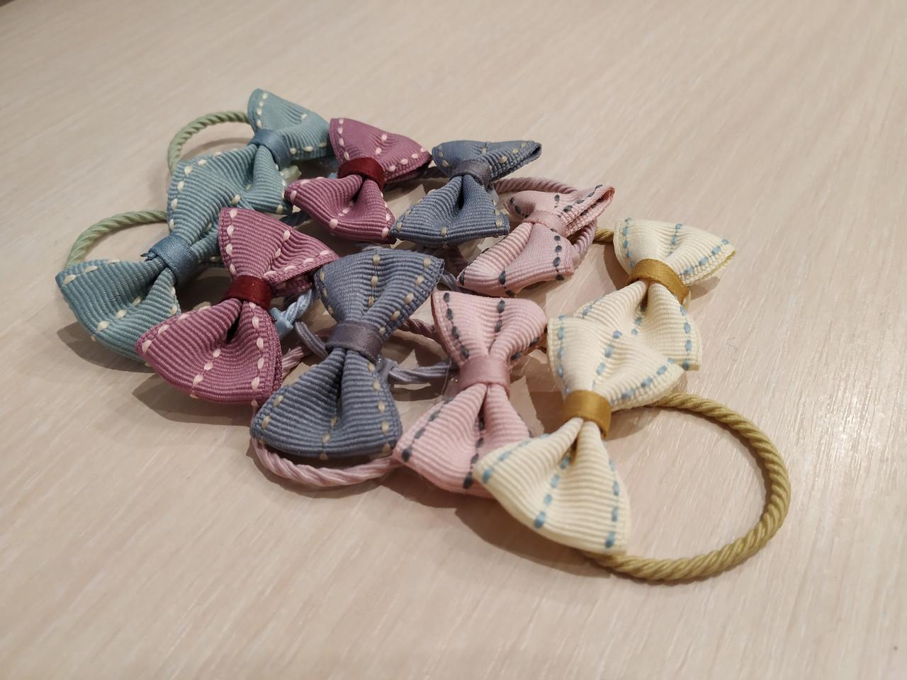 Набір дитячих резинок для волосся з бантиками