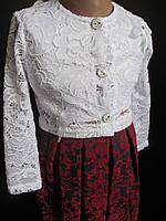 Ажурное болеро с платьем для девочек., фото 1