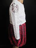 Ажурное болеро с платьем для девочек., фото 3