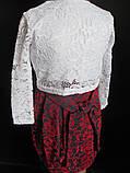 Ажурное болеро с платьем для девочек., фото 4