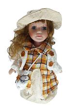 Кукла фарфоровая коллекционная Вероника высота 20 см в подарочной коробке